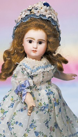"""23: TINY STEINER FRENCH BISQUE FIGURE """"A"""" BEBE.  Marks:"""