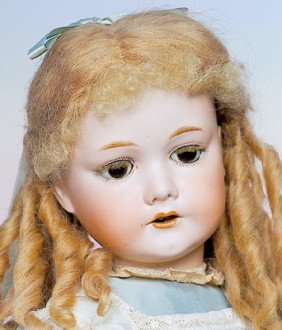 GERMAN BISQUE DOLL BY C.M. BERGMANN.  Marks:  C. M.