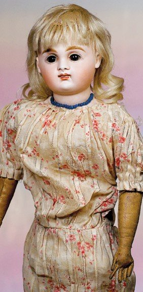 GERMAN BISQUE CLOSED MOUTH DOLL BY KESTNER.  Marks: