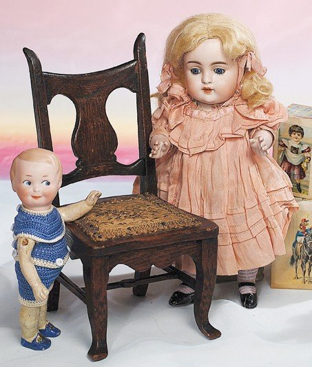 55: LARGE, ALL-ORIGINAL KESTNER ALL-BISQUE DOLL.  Marks