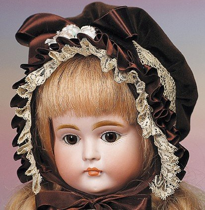 58: GERMAN BISQUE CLOSED-MOUTH DOLL BY KESTNER.  Marks: