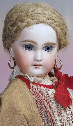 60: GERMAN BISQUE SONNEBURG DOLL WITH FRENCH-LOOK.  Mar