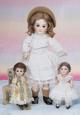 "TINY GERMAN BISQUE DOLL.  Marks: 380.  8"".  Bisque"