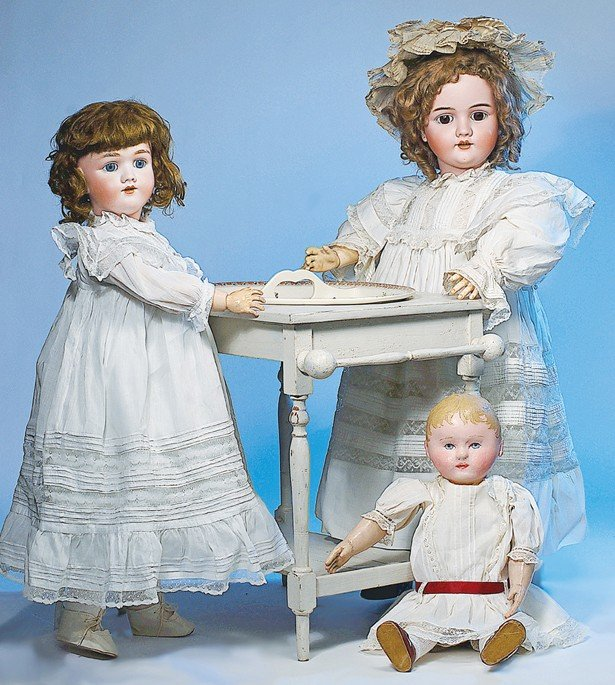1: GERMAN BISQUE DOLL BY HANDWERCK