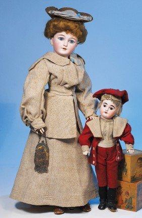 5:   SIMON & HALBIG, GERMAN BISQUE LADY DOLL