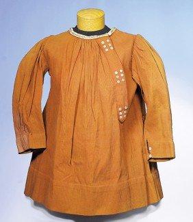 15: ANTIQUE COTTON PIQUE SCHOOL DRESS
