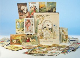 21: ANTIQUE EASTER CARD & ASSORTED POST CARDS