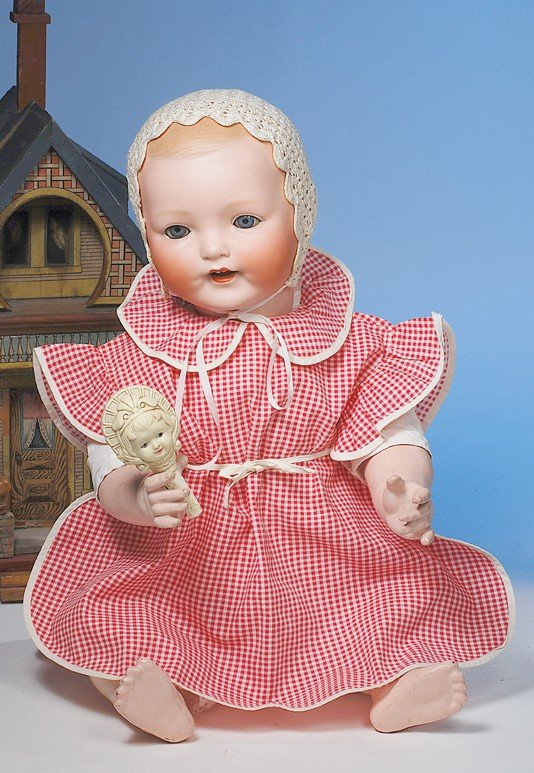 "33: LARGE ""VANTA BABY"" GERMAN BISQUE CHARACTER BY AMBER"
