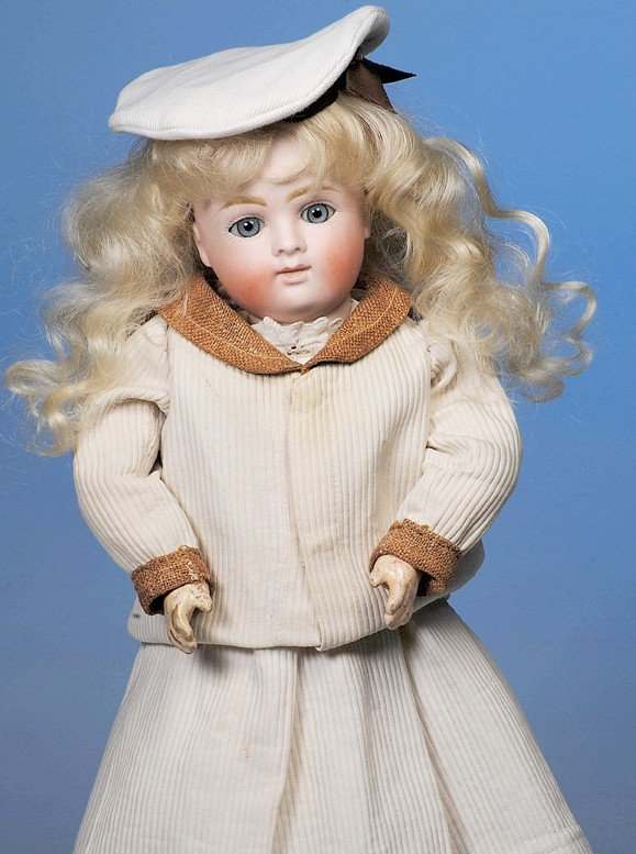 44: GERMAN BISQUE CLOSED-MOUTH DOLL BY KESTNER