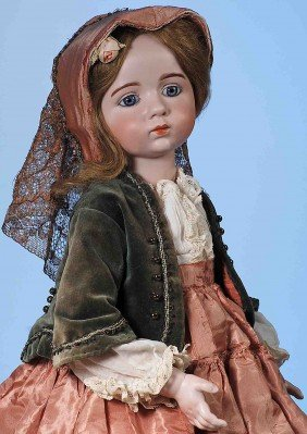 EXTREMELY  RARE FRENCH BISQUE DOLL BY ALBERT MARQUE