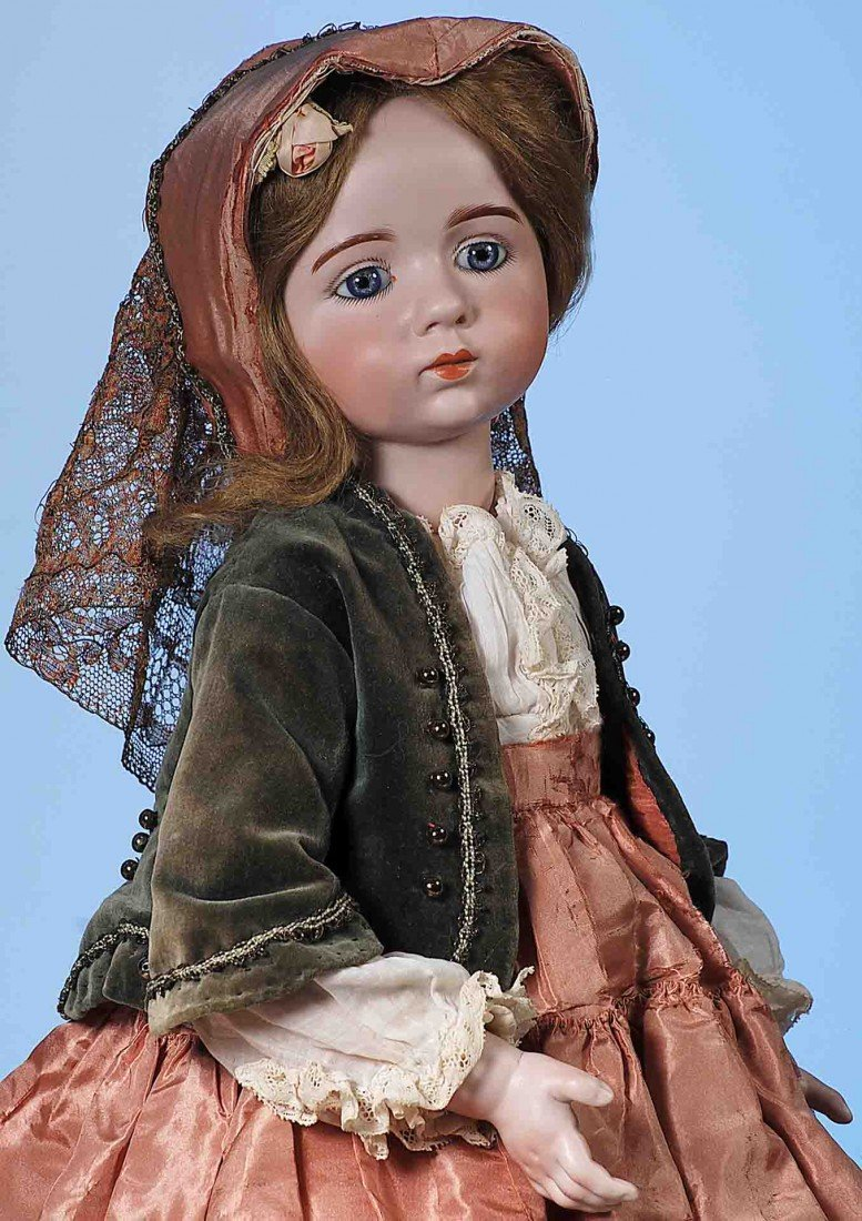 56: EXTREMELY  RARE FRENCH BISQUE DOLL BY ALBERT MARQUE
