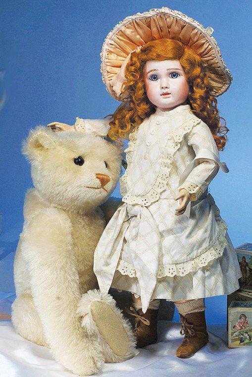 68: LARGE WHITE STEIFF TEDDY BEAR