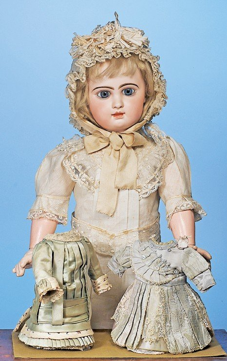 120: EMILE DOUILLET FRENCH  BEBE IN FACTORY COSTUME
