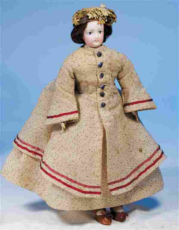 PETITE FRENCH FASHION DOLL WITH PAINTED EYES