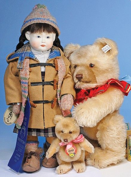 "TWO STEIFF ""JACKIE"" TEDDY BEARS"
