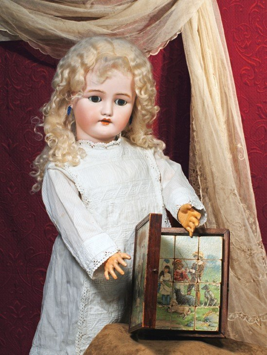 22: GERMAN BISQUE DOLL BY SIMON & HALBIG FOR C.M. BERGM
