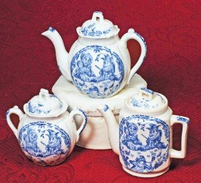 PUNCH & JUDY CHINA DINNERWARE.  Marks:  Punch, Alle