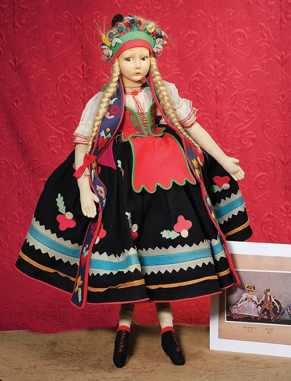 """92: ITALIAN CLOTH """"MARA"""" SALON DOLL BY LENCI.  28"""".  Fe"""