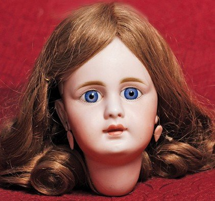 German Symbol Of The Brand Simon And Halbig Doll House Doll With Glass Eyes Antique (pre-1930)