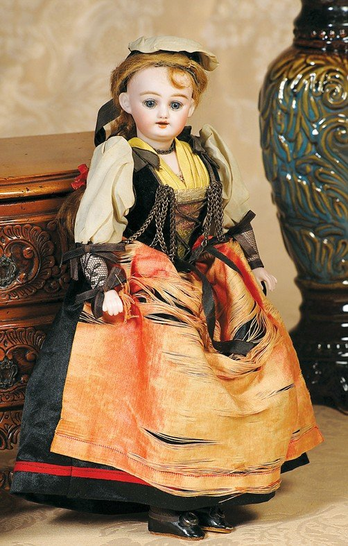 3: SIMON & HALBIG BISQUE DOLL IN ORIGINAL COSTUME