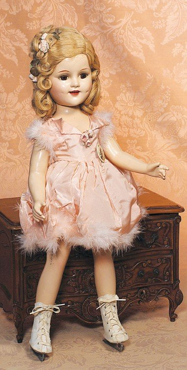 "147: ALL-ORIGINAL ""SONJA HENIE"" COMPOSITION DOLL BY ALE"