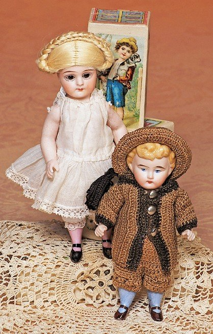 161: GERMAN ALL-BISQUE DOLL
