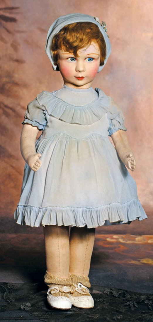 ALL-ORIGINAL FRENCH CLOTH CHARACTER GIRL BY RAYNAL.