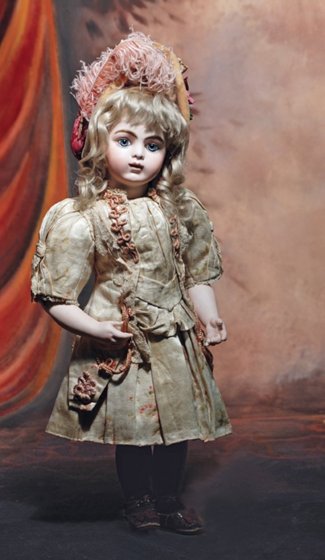 CLASSIC FRENCH BISQUE BEBE BRU JNE, SIZE 10, WITH