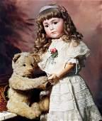 """EARLY STEIFF MOHAIR TEDDY BEAR. 13 ½"""". Light tan"""