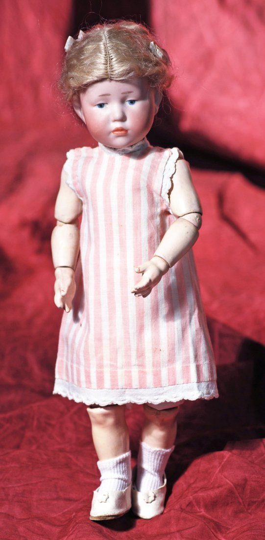 """GERMAN BISQUE ART CHARACTER DOLL KNOWN AS """"MARIE"""" BY"""