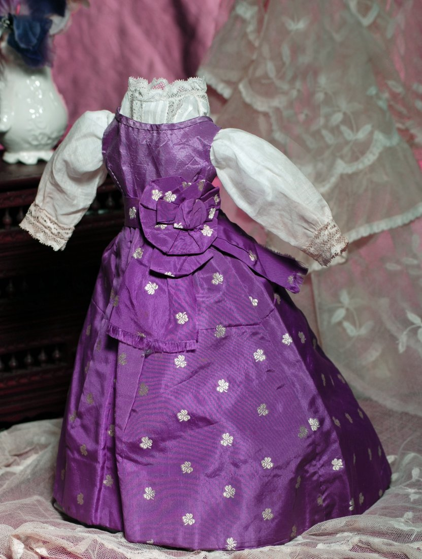 """ANTIQUE FRENCH FASHION GOWN AND BLOUSE.  4"""" shoulder"""