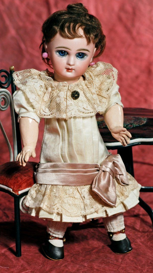 FRENCH BISQUE BEBE JUMEAU, RARE SIZE 2 WITH GORGEOUS
