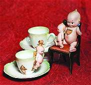 GERMAN BISQUE KEWPIE WITH JOINTED LEGS.  Marks: O'Neill;