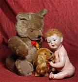 LARGE BROWN STEIFF TEDDY BEAR  STEIFF SPANIEL  21