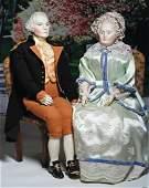 GEORGE AND MARTHA WASHINGTON PORTRAIT DOLLS BY EMMA