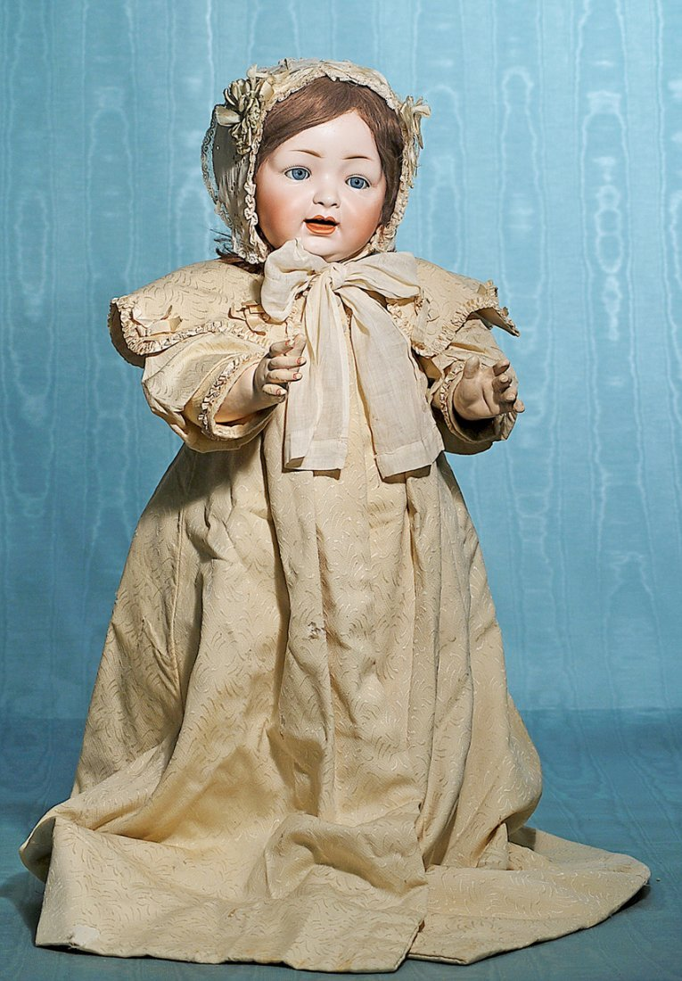 LIFE-SIZE GERMAN BISQUE CHARACTER BABY BY HERTEL &