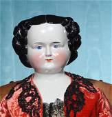 """VERY LARGE, 35"""", PORCELAIN CHINA LADY. Porcelain"""