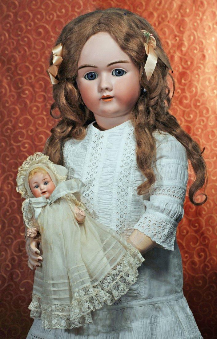 BEAUTIFUL LARGE GERMAN BISQUE CHILD BY HANDWERCK