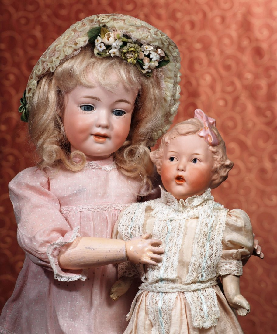 RARE GERMAN BISQUE CHARACTER GIRL, MODEL 7851, BY
