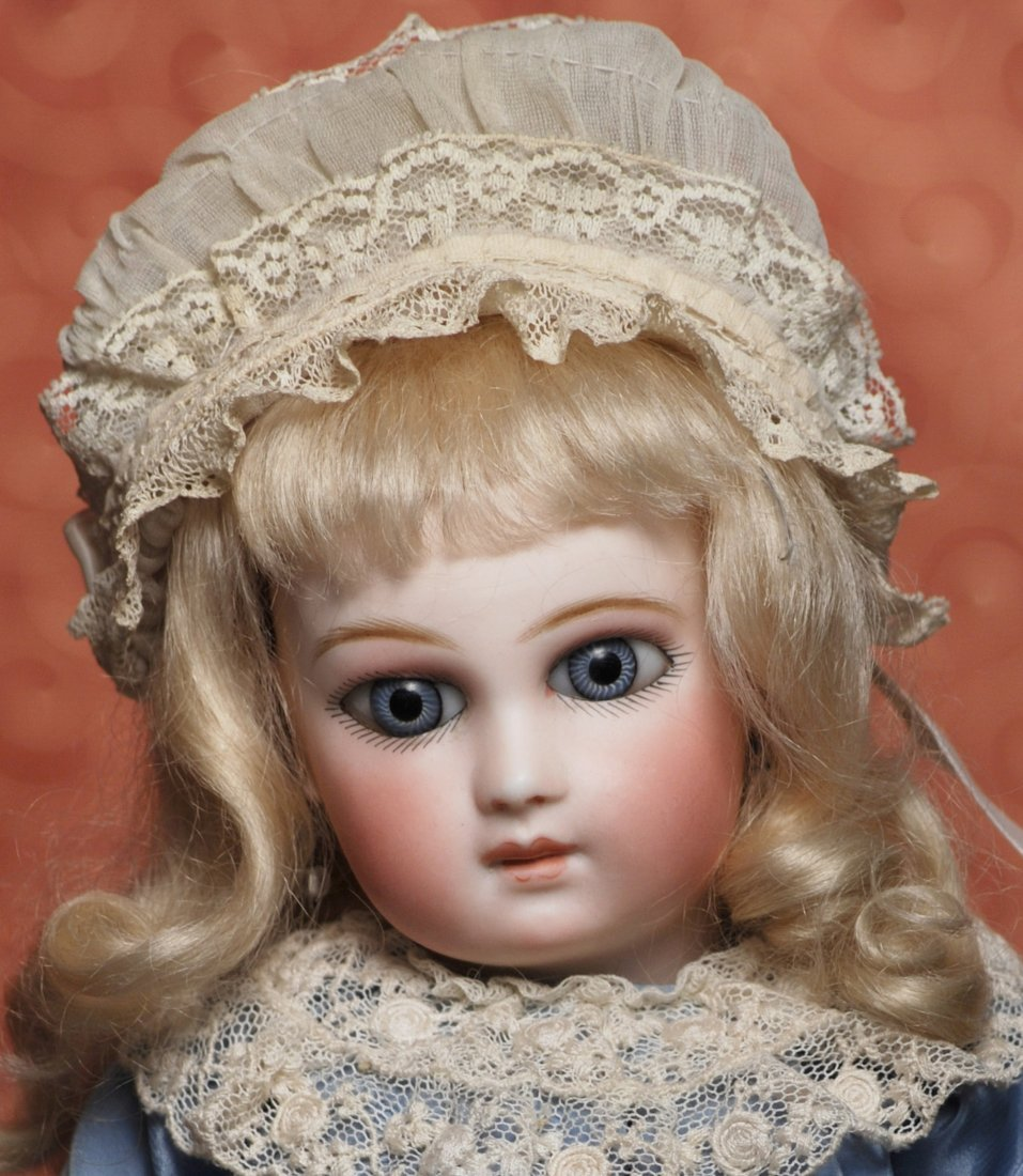 EARLIEST FRENCH BISQUE DELUXE PORTRAIT BEBE BY JUMEAU
