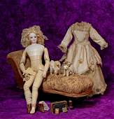 LOVELY FRENCH BISQUE POUPEE - WOODEN BODY BY JUMEAU