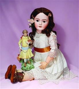 LARGE GERMAN BISQUE CHILD, SANTA 1249, BY SIMON &
