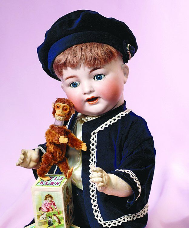 GERMAN BISQUE CHARACTER BABY BY KAMMER AND REINHARDT.