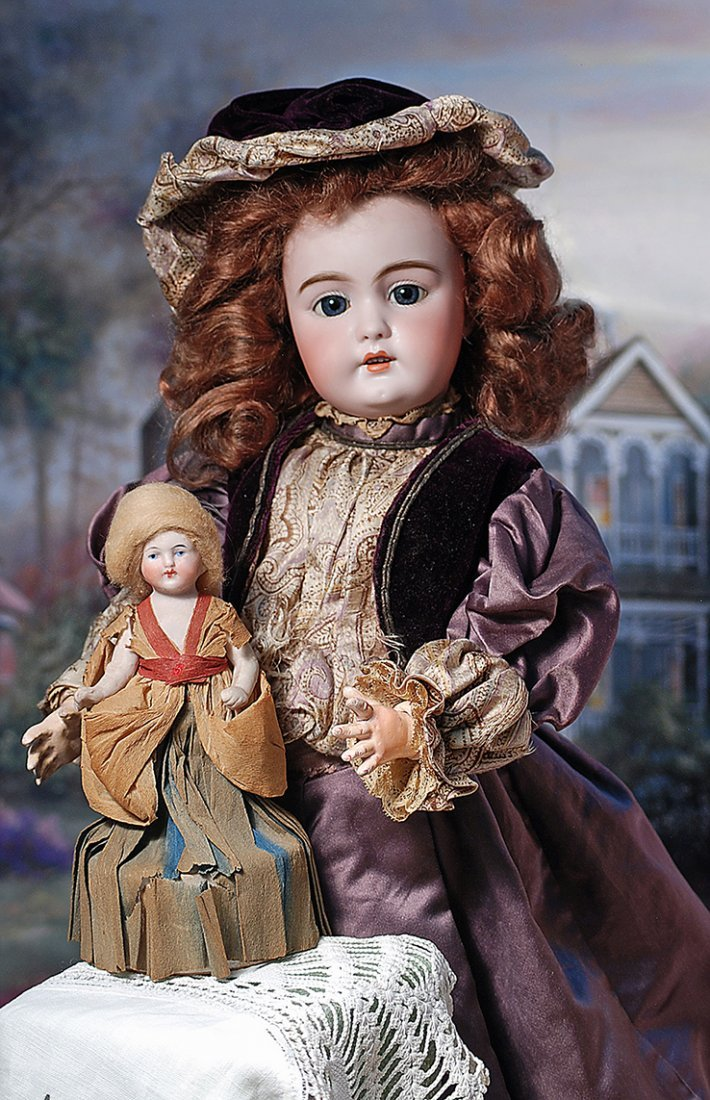 """GERMAN BISQUE DOLL AS CANDY CONTAINER.6 ¼"""". All-bisque"""