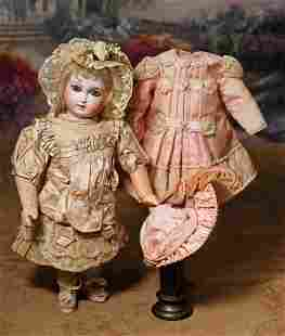 GORGEOUS EARLY FRENCH BISQUE JUMEAU BEBE, SIZE 1, WITH