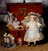 SONNEBERG BISQUE DOLL BY MYSTERY MAKER, WITH