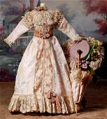 SILK AND LACE ENSEMBLE FOR LADY DOLLS.Includes pale