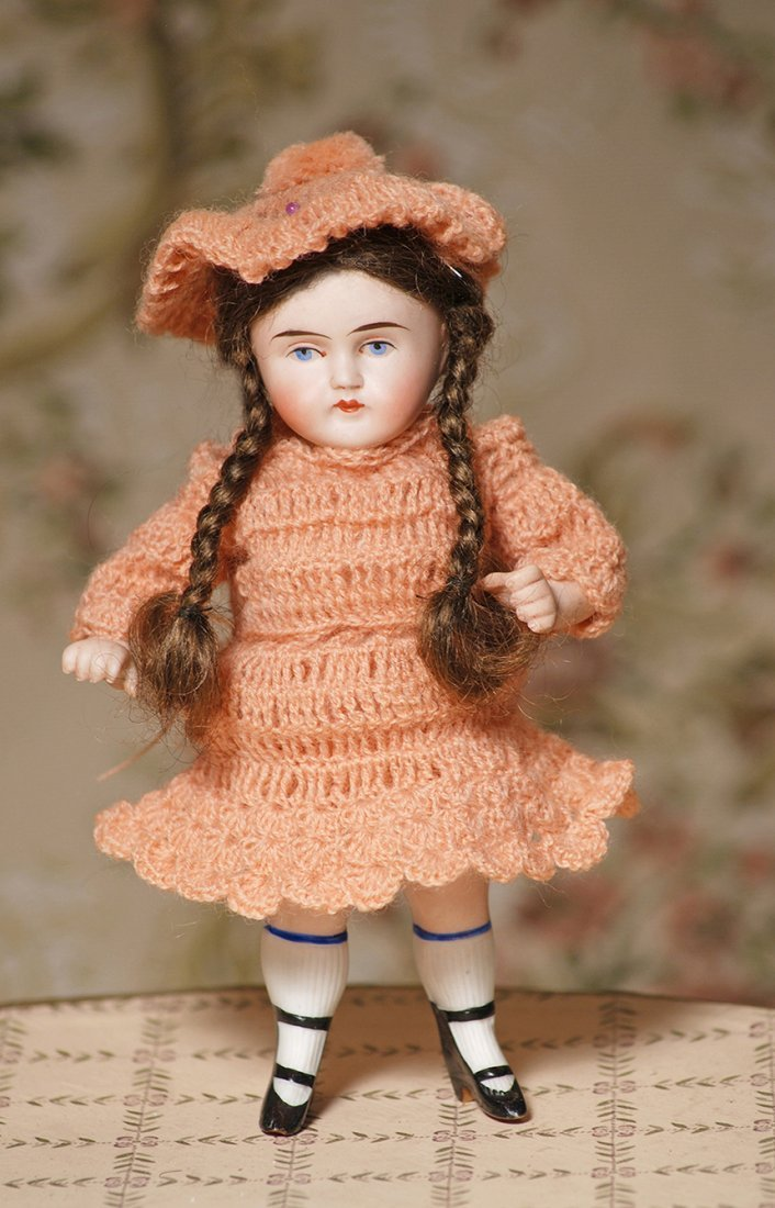 EARLY STYLE, GERMAN ALL-BISQUE DOLL WITH BOOTINES