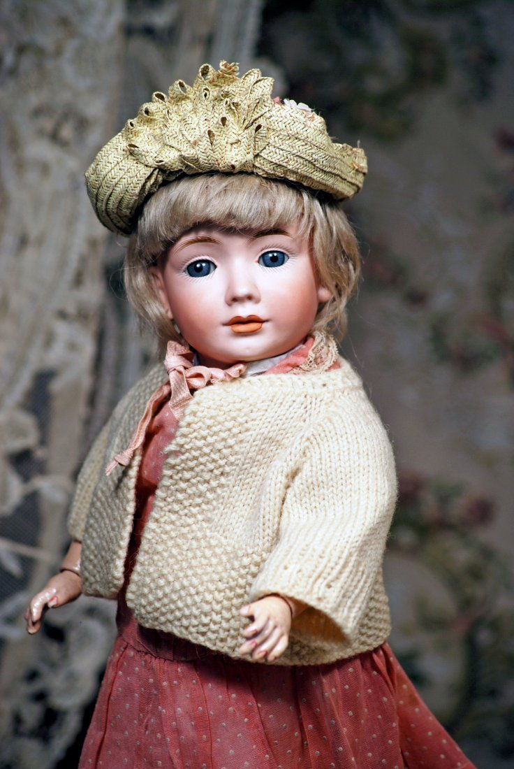 "RARE ""WENDY"" MODEL 2033, BISQUE CHARACTER DOLL BY BRUNO"