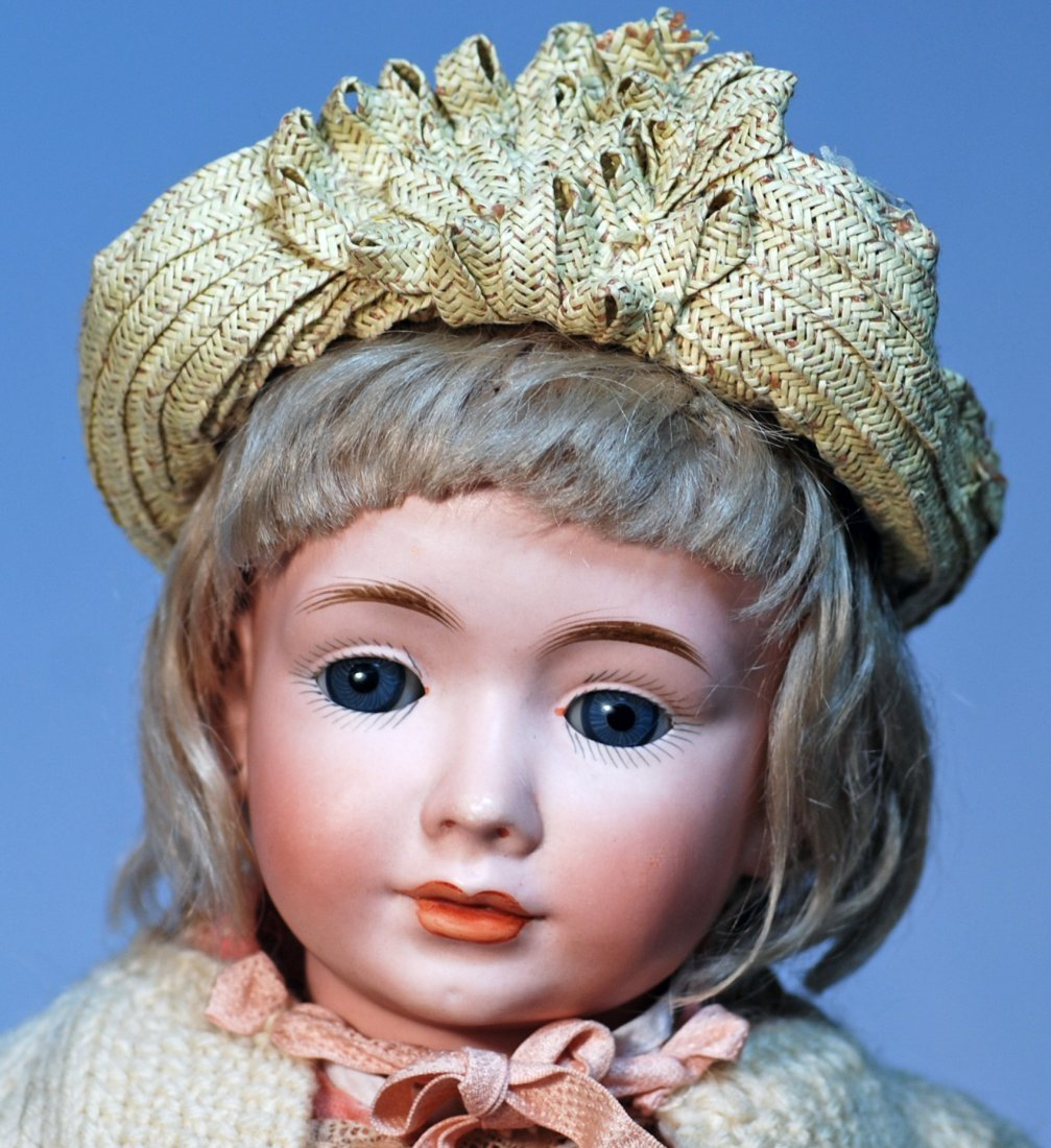 "RARE ""WENDY"" MODEL 2033, BISQUE CHARACTER DOLL BY BRUNO - 2"